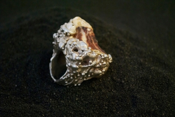 Ring, Silver, Shell, Pearl, 2013