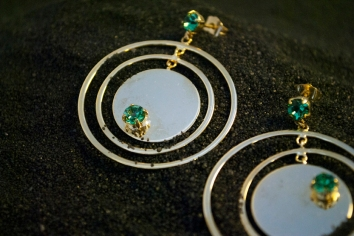 Earrings, Golden Plated Brass, 2012